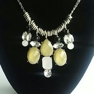 Jewelry - NY Silver with Gold Black Faux Stones